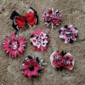 Other - 7 Piece Multi Collection Bows Hair Clips